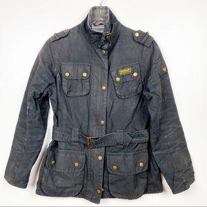 Barbour Waxed Cotton International Jacket Black